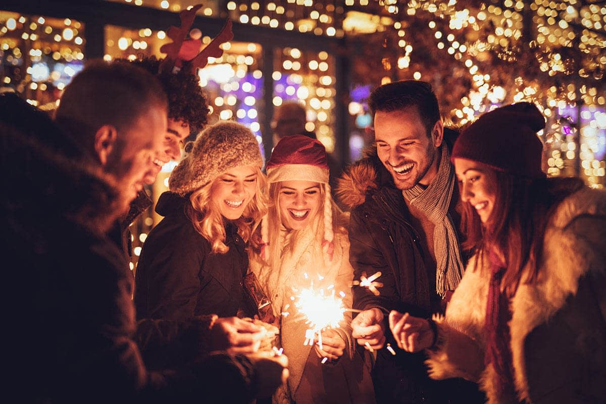 group hosting a sober friendly holiday gathering