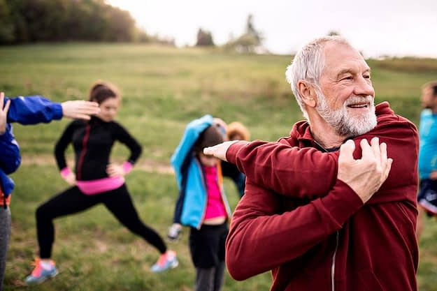 man thinking about exercise and recovery