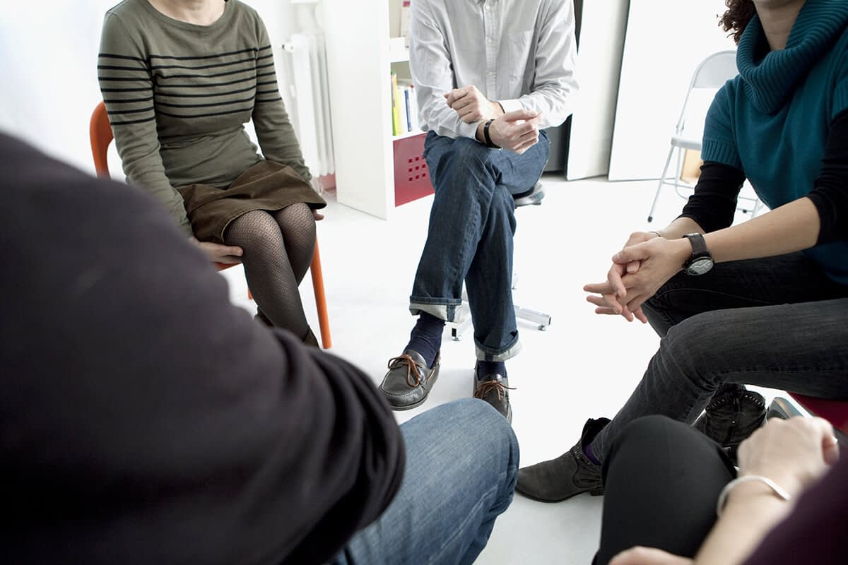 addiction rehab center in longview wa group session