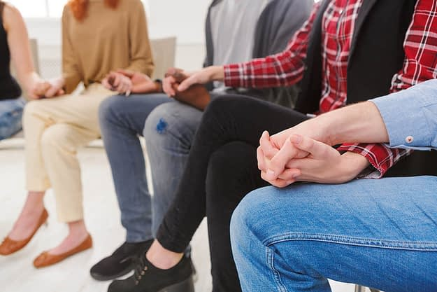 recovery group at a drug rehab program near portland