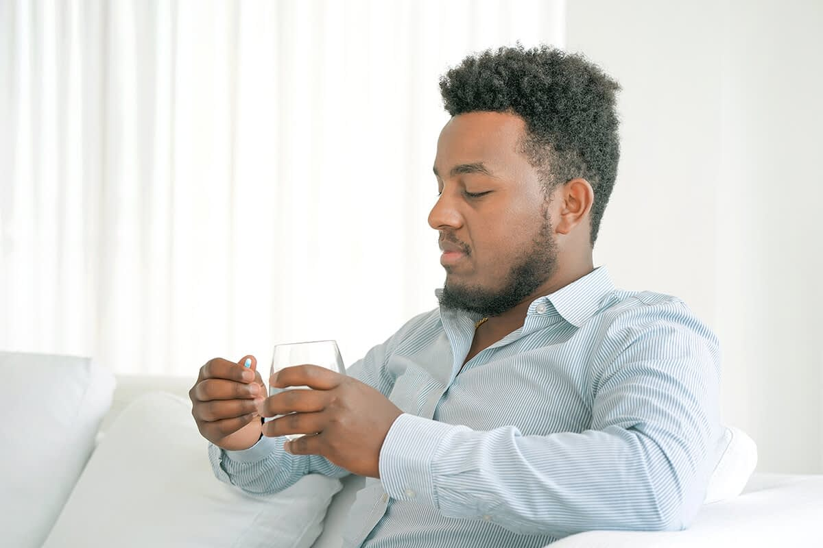 man wondering what are process addictions