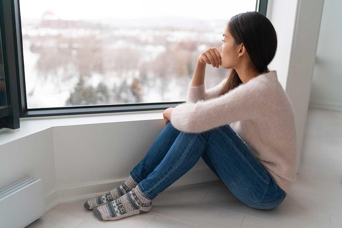 woman suffering from seasonal depression
