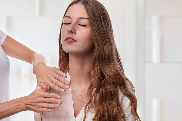 woman receiving benefits of holistic treatment
