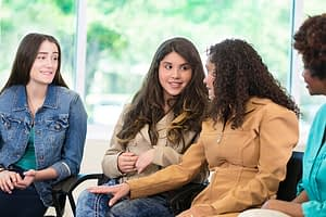group therapy at a womens drug rehab program