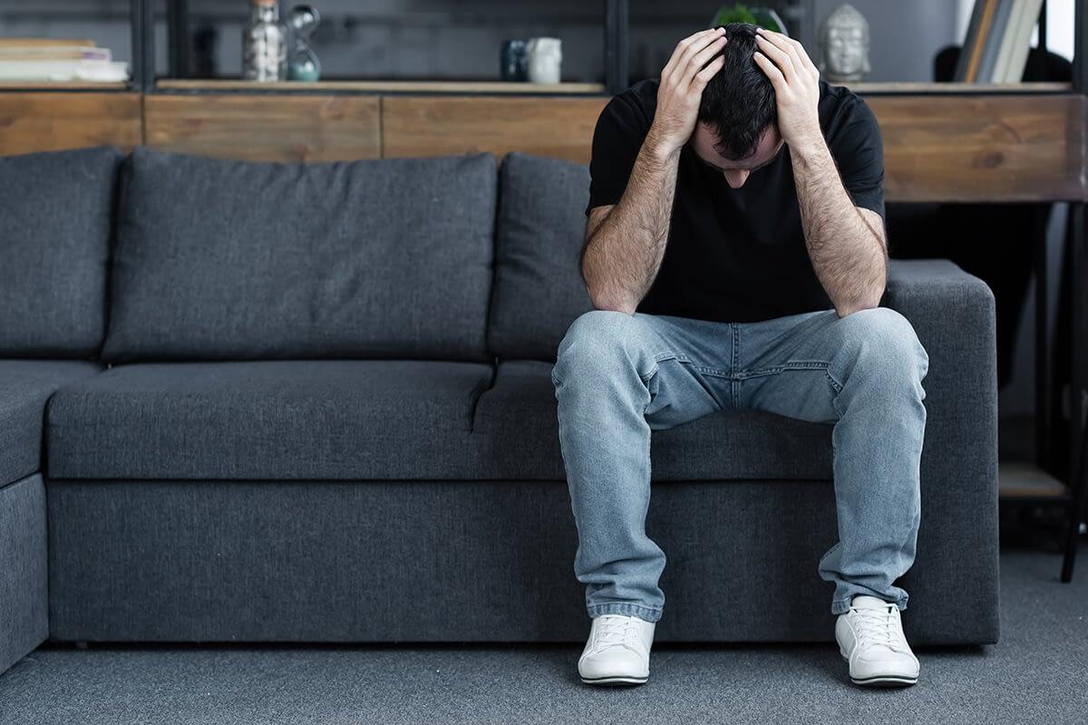 man wondering am i struggling with addiction