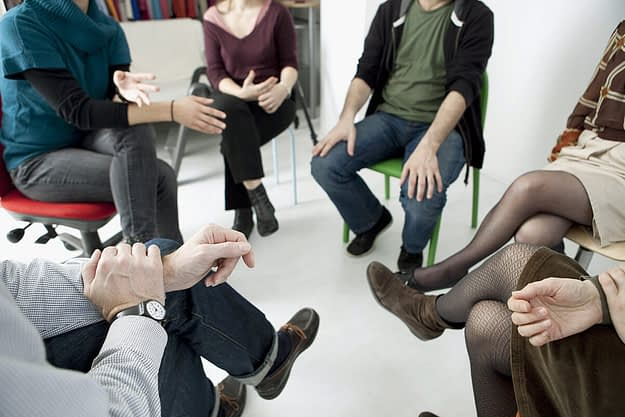 group at a drug rehab center near redmond