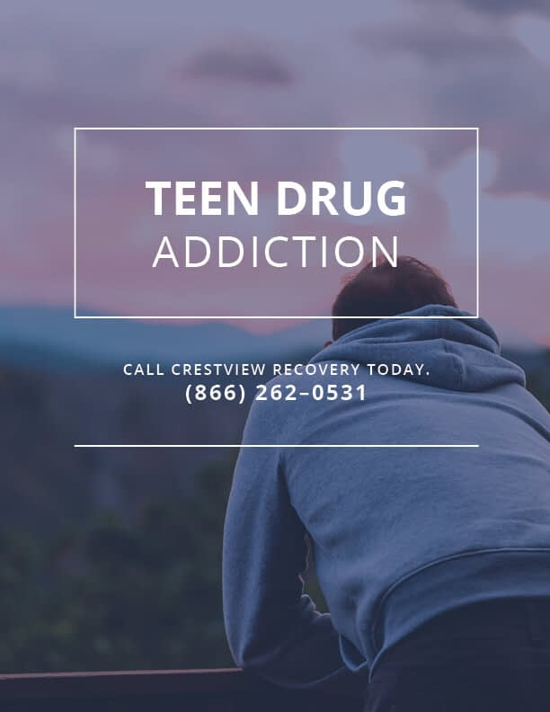 teen with drug addiction contemplates crestview recovery