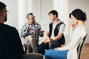 group at a portland drug rehab center
