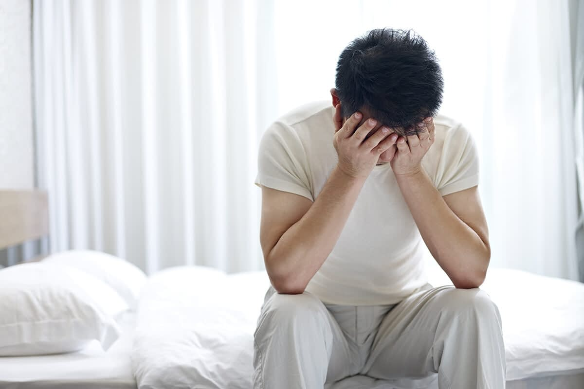 man going through heroin addiction treatment