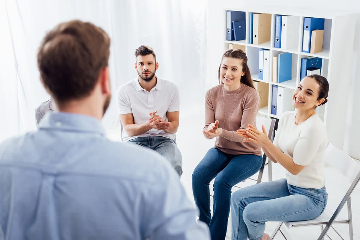 group of people at an alcohol rehab program near Springfield