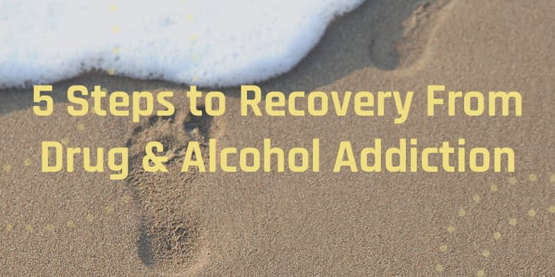 steps to recovery infographic