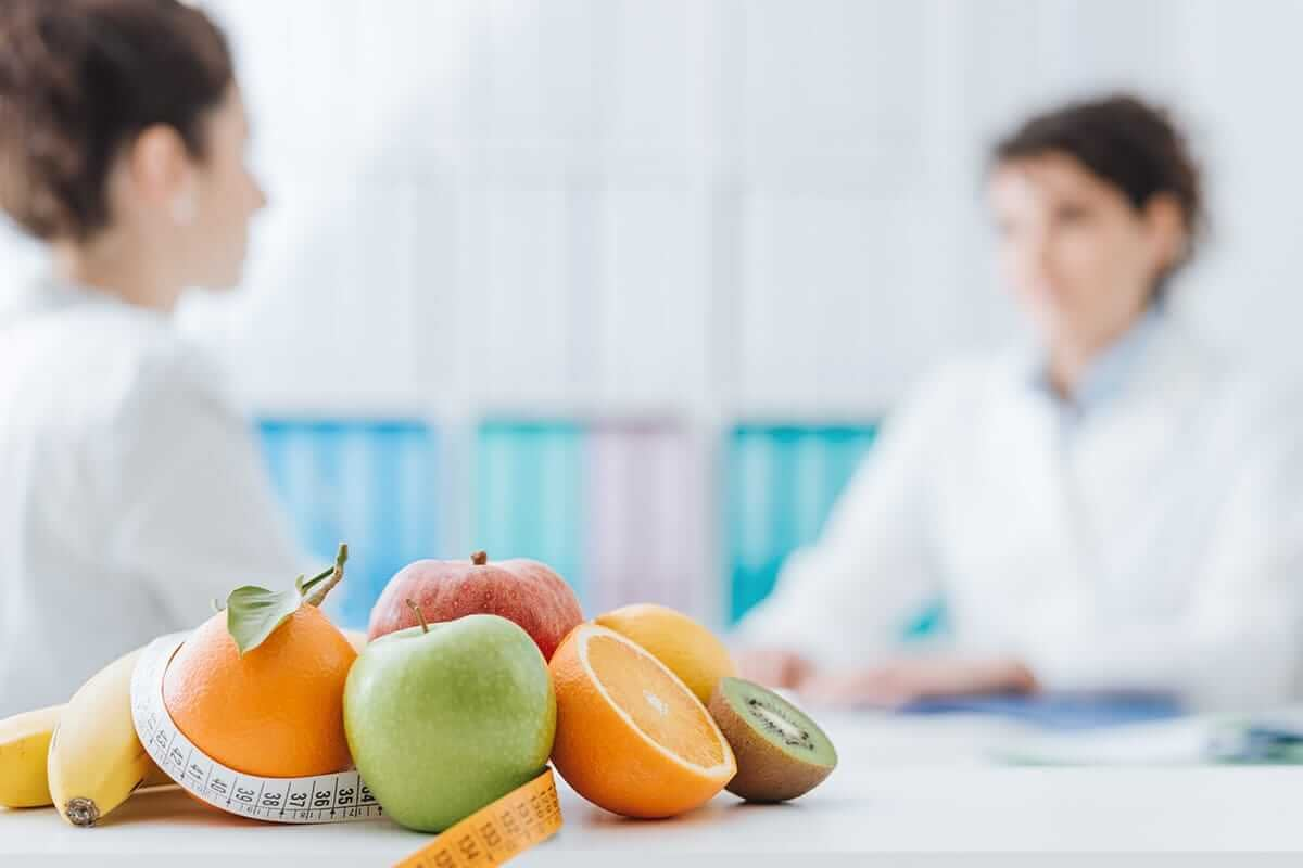 a doctor and patient discussing nutrition education