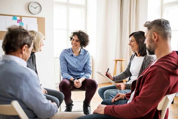 group at an inpatient treatment program